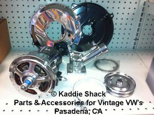 VW Chrome Alternator Conversion Kit Complete Bug Bus Ghia Thing Etc