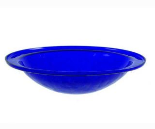 Achla Designs ACHLACGB01CB Crackle Glass Bowl Cobalt Blue