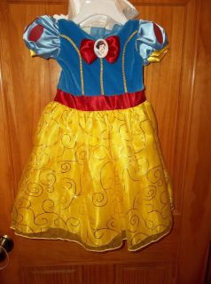 NWT's Infant Girl's Disney Baby Snow White Costume Dress Up Size 9 Months