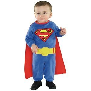 Superman Costume Baby Toddler Superman Superhero Halloween Fancy Dress