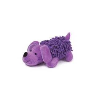 Zanies Shaggy Pups Soft Plush Squeaker Bright Dog Toy