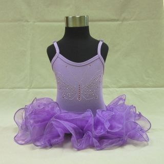 D053106 Girl Purple Leotard Ballet Dance Dress Pettiskirt Party Costume 2 3T 10