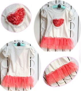 New Pink Cotton Girl's Baby Short Top Set Costume Clothes Clothing Pricess Dress
