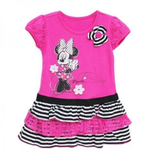Kid Girls Minnie Mouse Party Fancy Costume Top Dress Clothes Ages 4 5 6 7 Years