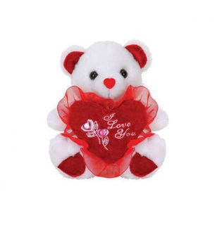"Valentine Day 14"" Teddy Bear Plush ""I Love You"" Red Heart"