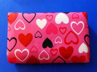 Pink Valentines Day Hearts Vinyl Tablecloth Flannel Back All Sizes New