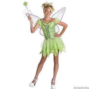 Tinkerbell Girls Large 10 12 Dress Up Halloween Costume Disney Fairy Tink