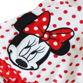 Minnie Mouse Polka Dots Girls Bikini Swimsuit Swimwear Kids Bathing Suit Sz 2 9