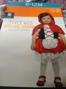 Little Red Riding Hood Halloween Costume Infant Toddler 6 12M