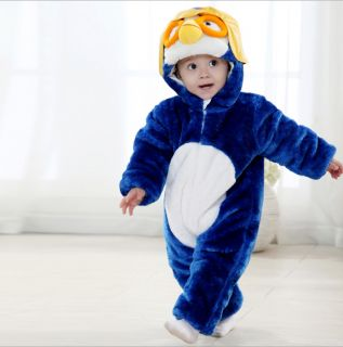 Winter Baby Boy Girl Kids Fleece Animal Costume Baby Romper Outfit Playsuit Gift