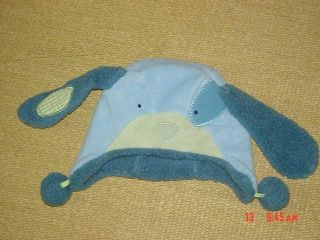 Pottery Barn Kids Baby Blanket Hat Set Puppy Dog Baby Green