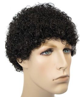 Tight Afro Jerry Jheri Curl Michael Jackson Style Wig Costume Black