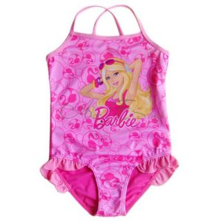 Girls Kid Barbie Princess Swimsuit Swimwear Bathing Suit Swimming Costume Sz 3 7