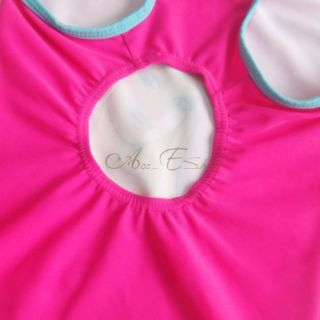 Girl Kid Barbie Open Back Swimsuit Swimwear Swimming Costume Bathing Suit Sz 4 5
