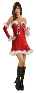 Sexy Santa Baby Red Christmas Dress Adult Costume Small