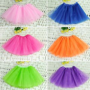 Sweet Baby Girl Kids Tutu Toddler 3 Layer Skirt Ballet Dancewear Party Costume E