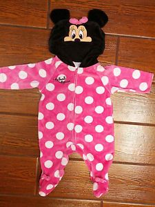 Baby Girl Minnie Mouse Halloween Costume Pajama Size 0 3 Months