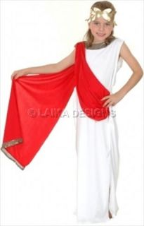 Girls Roman Greek Goddess Toga Aphrodite Fancy Dress Up Costume