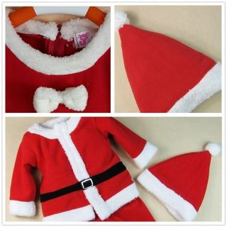 Christms Baby Boys Girls Party Suit Costume Dress Outfit Xmas Santas Gift 6 24M