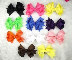 "Wholesale Baby Infant Girl Ribbon Costume Boutique 3 5"" Hair Bows Flower Clip A1"