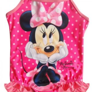 Girl Baby Polka Dots Minnie Mouse Swimsuit Swimwear Swimming Costume Sz 3 8