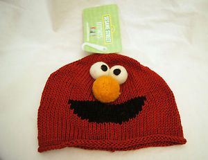 Elmo Hat Knit Toddlers Cap Baby Boys Girls Animal Costume Sesame Street Delux