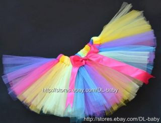 Rainbow Party Costume Girl Toddler Child Baby Dance Ballet Skirt Tutu 0 5T