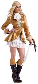 Treasure Chest Pirate Womens Sexy Costume Jacket Lace