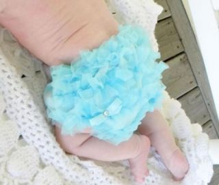 Lovely Skyblue Baby Girl Ruffle Panties Bloomers Diaper Cover s for 0 2Y