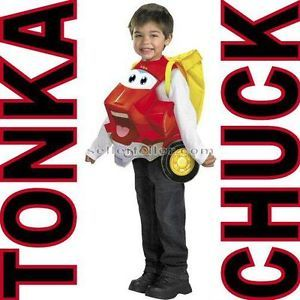 Chuck The Tonka Truck Deluxe Halloween Costume Toddler 3T 4T