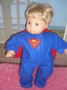 Clothes for Bitty Baby Superman Halloween Costume Sleeper