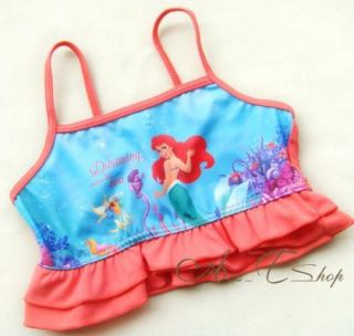 Girl Kid Princess Ariel Mermaid Swimsuit Tankini Bathing Swimming Costume Sz 2 3