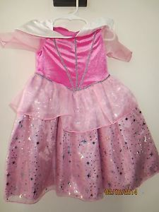 Toddler Baby Girls Disney Sleeping Beauty Dress Up Dress Costume Sz 18 M Pink