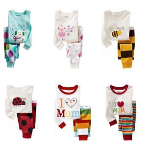 Baby Toddler Kid's Clothes Boys Girls Sleepwear Pajama Size 2T 7T 9 Pattern