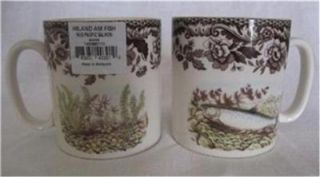 2 Spode Pacific Salmon Mugs Woodland North American Fish Collection