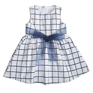 1pc Baby Toddler Girls Kids Cotton Top Plaids Dress Outfit Bowknot Skirt 6M 3T