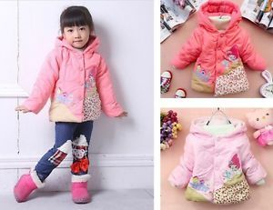 Toddler Girls Kids Clothes House Pattern Cotton Coat Winter Jacket 1 5years