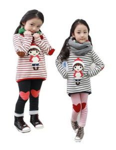Toddler Girls Kids Clothes 2 Pcs Set Top Leggings Outfit 3 8Y Casual Clothing