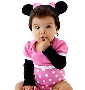 Minnie Mouse Cuddly Pink Bodysuit Cap NWT 0 24M 2yrs Costume  Junior