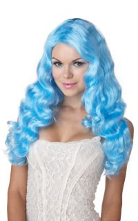 Hot Sexy Sweet Tart Halloween Costume Wig Baby Blue 70614
