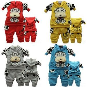 Baby Kid Toddler Boy Girl Animal Dog Suit Outfit Outwear Hooded Coat Clothes Set