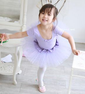 Girls Party Dance Ballet Tutu Dress Costume 3 8 T Purple Leotard Pettiskirt TT03