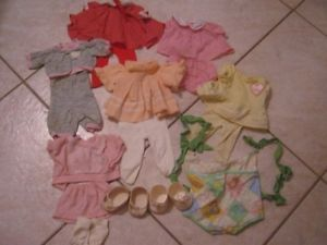 Cabbage Patch Kid Doll Clothes Outfits Shoes Baby Infant Carrier Circa 1985 '86