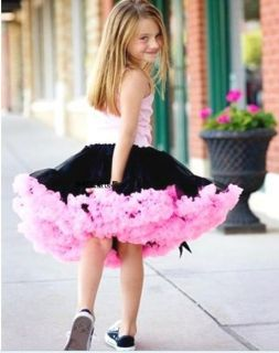 Black Rose Baby Girl Kid Tutu Pageant Formal Party Dress Skirt Costume Clothes
