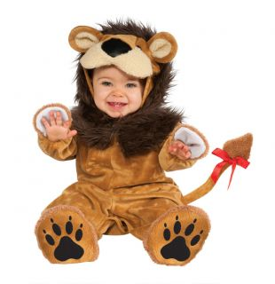 Fuzzy Baby Lion Cub Infant Toddler Plush Costume 6 12 12 18 Months