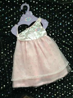 Baby Born Girl Doll Clothes Long Princess Dress Outfit Zapf Creations 17""