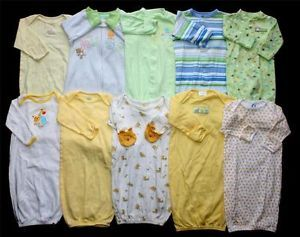Baby Boy Girl Neutral Newborn 0 3 0 6 0 9 Months Sleep Sack Gown Clothes Lot