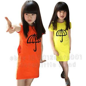 Baby Girls Sundress Kids Clothing Toddlers Pocket Casual Slim Long Dresses 3 8 Y