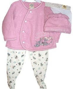 Harley Davidson Infant Girls 3 PC Set Apparel Outfit w Feeted Bottoms