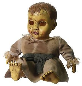 Halloween Haunted House Party Prop Sound Activated Creepy Baby Doll